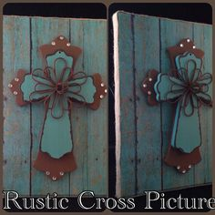 Rustic Cross Picture on Etsy, $18.00