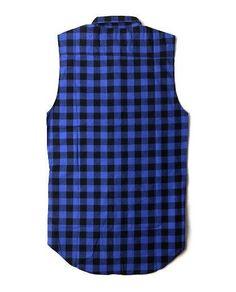 Side Zipper Plaid High Quality Mens Hip Hop Streetwear Swag Shirt