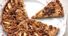 Douce tarte pomme-poire à l'amande et cannelle