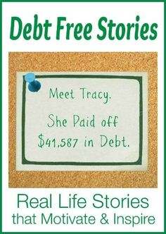 Meet Tracy, a Single Mom, Who Paid off $41,587 in Debt | Debt Free Stories @ FamilyBalanceSheet.org Debt Free Stories #debt Debt Payoff
