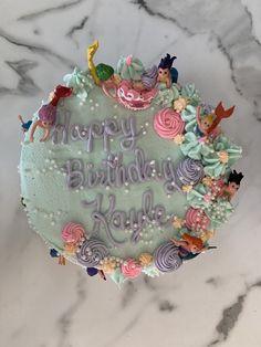 Mermaid Theme Birthday, Mermaid Cakes, Desserts, Tailgate Desserts, Deserts, Postres, Dessert, Plated Desserts