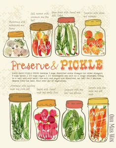 Pickled Vegetables green beans tomatoes radish chili asparagus cucumber mushrooms Ohn Mar Win illustrated recipe