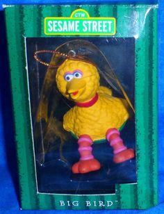 Sesame Street BIG BIRD on Snow Saucer Christmas Ornament by Kurt Alder 1998   A9 #SesameStreet