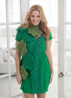 Get lucky with our crochet Lucky Shamrock Scarf this St. Patrick's Day!