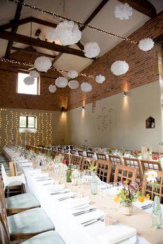 Dodmoor House Pom Poms Pretty White Summer Informal Wedding Http Www Jessicagracephotography