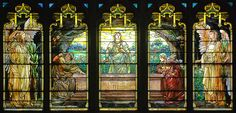 Detail of Tiffany Window, facing north by WayNet.org, via Flickr Reid Memorial Presbyterian Church, Richmond Indiana