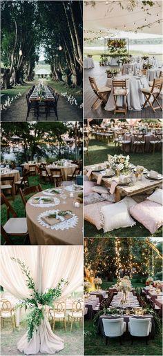 outdoor boho chic wedding reception ideas2_