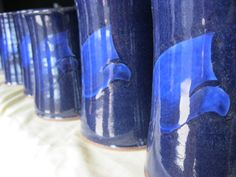 Blue glazed awards for 2013 with an artistic rendering of a blue nose - can you see it? Perfect colour pallete for the Scotiabank Blue Nose Colour Pallete, Marathon, Awards, Canning, Blue, Color, Marathons, Colour, Home Canning