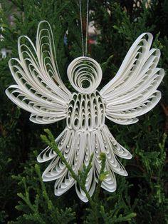 Papel Quilled ángel de la Navidad por NatureMaidTreasures en Etsy