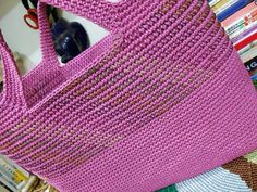 sashiko stitch on crochet bag