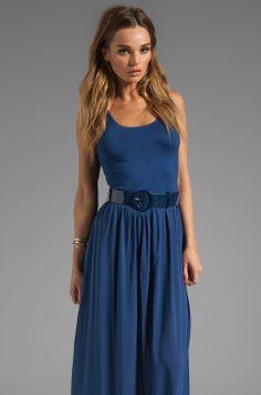 Alice + Olivia Kell Tank Maxi Dress With Belt in Navy from REVOLVEclothing
