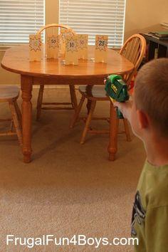 kids' games - Nerf shooting range