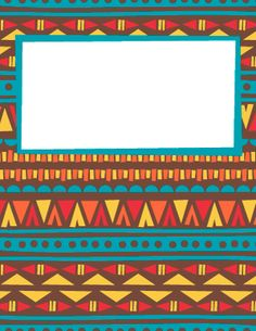 Tribal Print Binder Cover