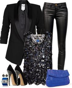 34 Beautiful Polyvore Combination Which Can Inspire You- More form fitting sparkly shirt, but otherwise I totally love this look.