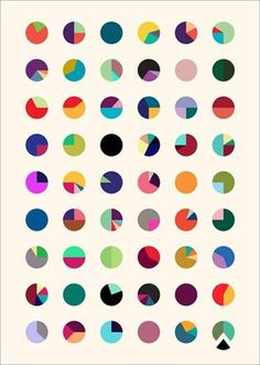 Colorful Circles, repeat pattern.