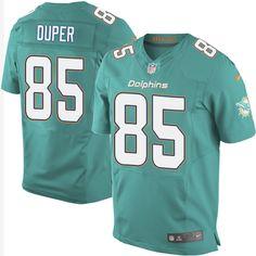 Men's Nike Miami Dolphins #85 Mark Duper Elite Aqua Green Team Color NFL Jersey