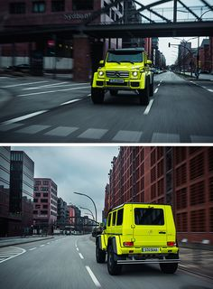 High-Rider. The Mercedes-Benz G 500 4x4² is beyond measure. Energized by the new V8 powerpack, the legendary off-roader puts in an absolutely convincing performance on — and off — the asphalt. Photos by Stephen Reuss. [Mercedes-Benz G 500 4x4²   Combined fuel consumption: 13.8 l/100 km   CO2 emission: 323 g/km   http://mb4.me/EfficiencyStatement]