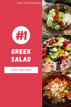 The traditional Greek salad recipe; Find out how to make this Horiatiki (Xoriatiki) salad the traditional Greek way with this authentic recipe. Greek Yogurt Salad Dressing, Yogurt Salad Dressings, Greek Chicken Salad, Greek Quinoa Salad, Greek Salad Pasta, Easy Greek Salad Recipe, Greek Salad Recipes, Easy Salad Recipes, Salad Toppings