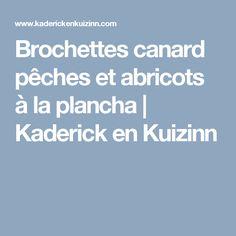 Brochettes canard pêches et abricots à la plancha | Kaderick en Kuizinn