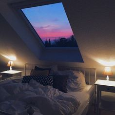 I'm torn about skylights in the bedroom because I would never be able to sleep in.