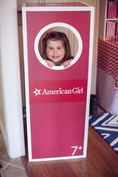 Boxed American Girl Doll - Photo Booth from an American Girl Doll Themed Birthday Party via Kara's Party Ideas! KarasPartyIdeas.com (9)