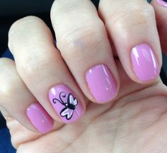 Spring butterfly nails