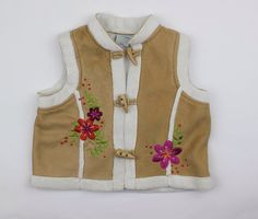 Girls Suede Look Vest with Faux Fur Trim and Lining by Please Mum, Size 2T.  In Store now for Only $4.95 ~ Buy Resale and Save!