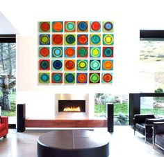 Painted Wood Abstract Wall Sculpture - 30 piece collection Modern Abstract on Wood Wall Art Blocks Geometric Wall Art, Colorful Wall Art, 3d Wall Art, Hanging Wall Art, Large Wall Art, Sculpture Painting, Wood Sculpture, Wall Sculptures, Painting On Wood