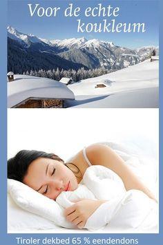 Tiroler dekbed dons,Oostenrijk,65 % dons opschud-bed,koukleum,winterdekbed,eendendons,Slaapcomfort bij slaapkenner Theo Bot Zwaag,Hoorn