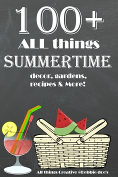 All things creative summertime edition. If you are looking for the best summer decor, recipes, crafts and more ideas you come to the right place.