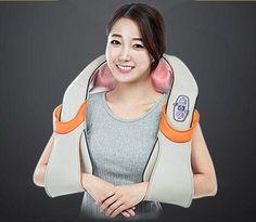 U-form Elektrische Shiatsu Nacken Schulter Massager körper infrarot 3D kneten eu-stecker flachstecker