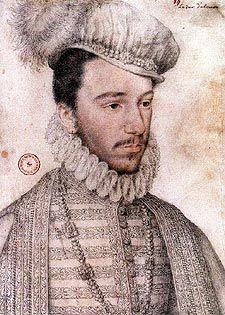 Henri III, de François Clouet- Son règne est marqué par de sérieux  problèmes religieux, politiques, économiques. 4 guerres de religion se déroulent sous son règne. Henri III doit faire face à des partis politiques et religieux soutenus par des puissances étrangères, le parti des Malcontents, le parti des protestants et pour finir le parti de la Ligue qui parvint à le faire assassiner. Il meurt à St-Cloud le 2 aout 1589 après avoir été poignardé par le moine Jacques Clément.