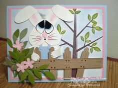 Punched Bunny scene using Stampin Up Season of Friendship