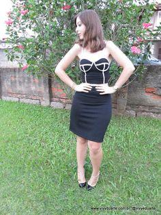 Vivy Duarte: Look do Dia : Cropped e Saia Lápis