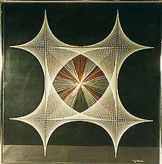 Geometric string art, original by Ray Schechter