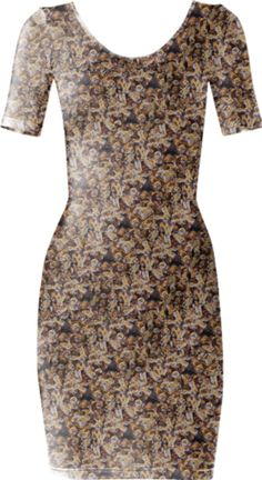 Bees Short Sleeved Bodycon Dress - Available Here: http://printallover.me/products/0000000p-bees-5