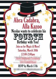 52 Best Magic Show Birthday Images Magic Birthday Magic Party