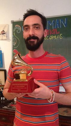 We got a visitor today! Sebastian Ayala from La Vida Boheme dropped by the office and left with his Latin Grammy