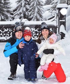 Royal Family Ski Trip Photos Princess Charlotte | Will and Kate took Prince George and Princess Charlotte to the French Alps. #refinery29 http://www.refinery29.com/2016/03/105317/royal-family-ski-vacation-will-kate