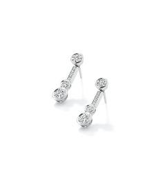 'Waterfall' diamond drop earrings, £13,000.
