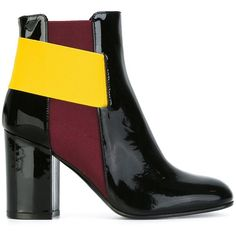Pollini contrast strap ankle boots (€330) ❤ liked on Polyvore featuring shoes, boots, ankle booties, black, black ankle booties, strap boots, black boots, black strappy boots and ankle strap booties