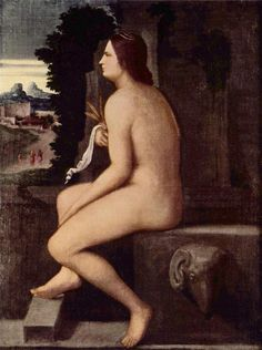 Ceres  Artist: Giorgione  Completion Date: 1510  Style: High Renaissance  Genre: mythological painting  Material: canvas  Dimensions: 745 x 545 cm  Gallery: Staatliche Museen zu Berlin, Gemäldegalerie, Berlin, Germany  Tags: Greek-and-Roman-Mythology, gods-and-goddesses, Ceres/Demeter