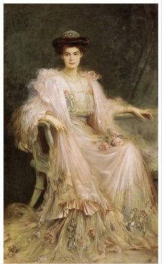 My Ruchert Relatives came form what was once PRUSSIA. hmm, I wonder?Crown Princess Cecilie of Prussia, née Duchess of Mecklenburg-Schwerin by Caspar Ritter - Old Paintings, Beautiful Paintings, Victorian Art, Prussia, Woman Painting, Dress Painting, Painting Canvas, Oeuvre D'art, Art History