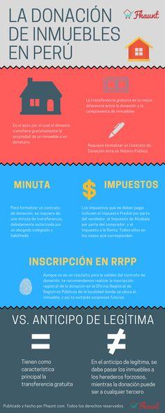 ¿Qué es la donación de inmuebles? ¿Cuáles son los requisitos, y cuando es una buena idea ejecutarla ? Entérate de eso y más en esta infografía que hemos preparado para ti #inmuebles #peru #donacion #vivienda #casas #departamentos