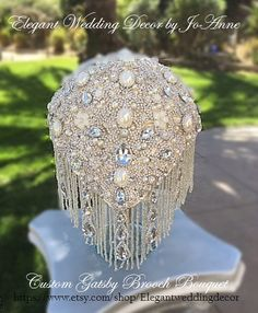 GATSBY BROOCH BOUQUET Custom Gatsby Themed by Elegantweddingdecor