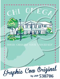 Chi Omega North Carolina State University house sketch #grafcow