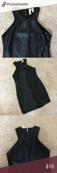 NEW! F21 exclusive faux leather body con dress F21 exclusive faux light leather body con dress. Black. Double layer. Halter neck. New with partial tag left! Forever 21 Dresses Mini