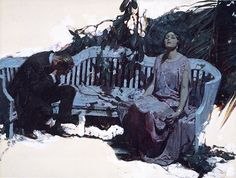 Dean Cornwell had a great way of breaking up edges of his illustration.
