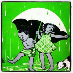 Playing in the rain...