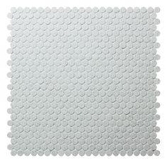 12.7mm Unglazed Penny Round Porcelain Mosaic with Salt Surface. #tiles #mosaic #pennyroundtiles #walltiles homedecor
